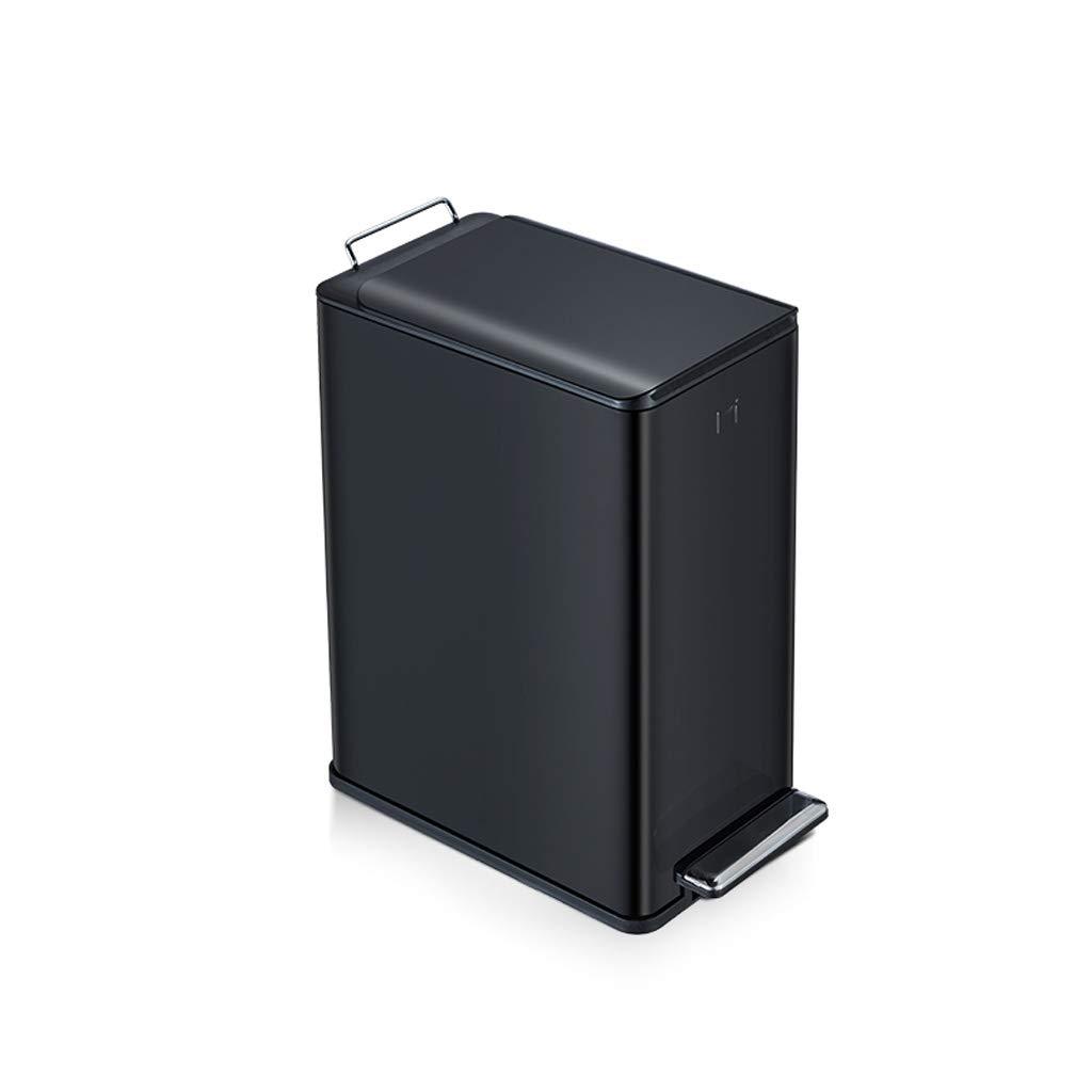LINGZHIGAN ごみ箱ペダルステンレススチールホームリビングルームベッドルームバスルームキッチン収納バケツ34 * 18 * 32cm / 34.18 * 41.6cm (サイズ さいず : 9L) B07KXN3J1Z  9L