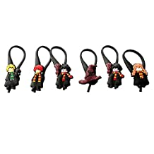 6 pcs Harry Potter Soft Zipper Pull for Jacket Backpack Bag Pendant / 6 pièces Zip Pendentif, décoration pour la Veste, Sac