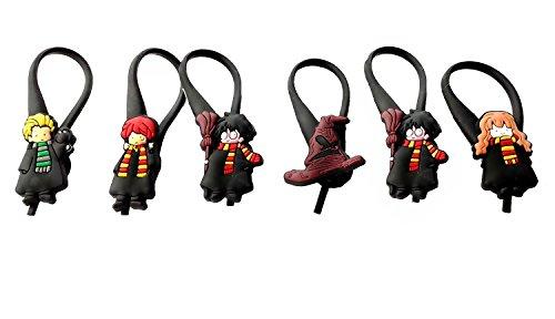 Easy Snape Costume (AVIRGO 6 pcs Soft Zipper Pull Charms for Backpack Bag Pendant Jacket Set # 54-3 by Hermes)