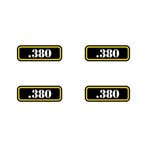 (4x) .380 Ammo Can Sticker Set Decal molon labe bullet 380 type 2 FA Vinyl