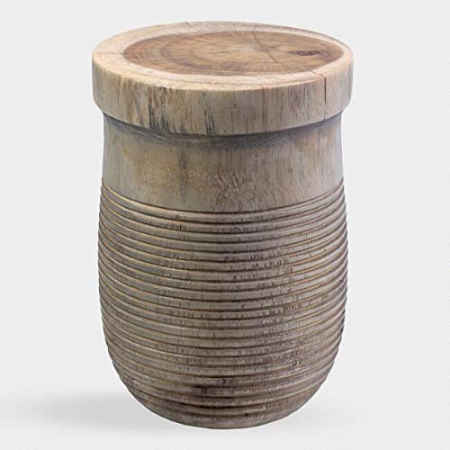 - Teakwood Drum Shaw Accent Table