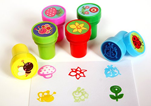 Playscene Vibrant Self Inking Stamps For Kids (SPRING - 24 PACK)