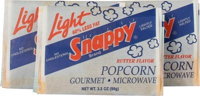 48 Pack Light Butter Microwave Bulk Popcorn by Snappy Popcorn