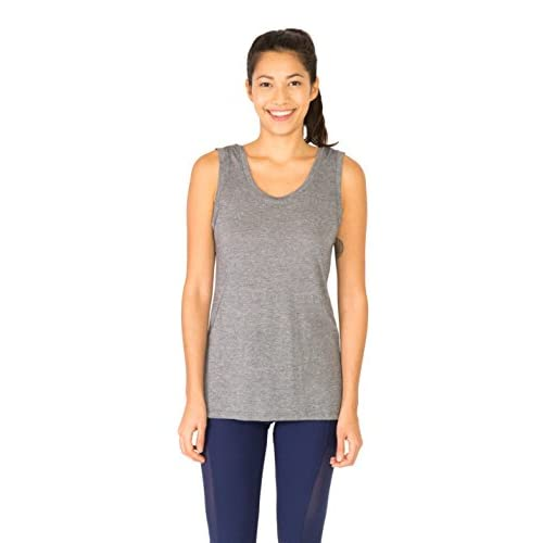 3166f2b5182 chic RBX Active Women s Two-Fer Back Yoga Tank Top with Striped Back ...