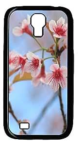 ICORER Vintage Samsung Galaxy S4 Case Wild Himalayan Cherry PC Black Case for Samsung Galaxy S4