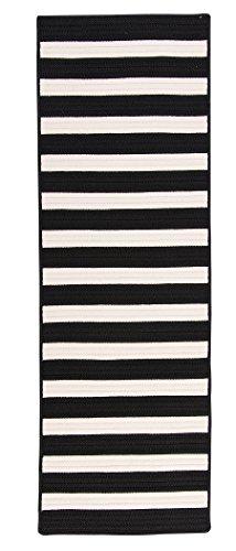 (Stripe It Rug, 2 by 4-Feet, Black White)