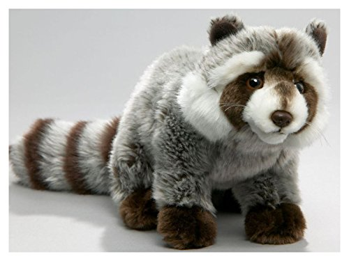 (Stuffed Animal Raccoon 10 inches 14.5 inches with tail., 25cm/37cm, Plush Toy, Soft Toy )