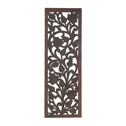 "Deco 79 96077 Wood Wall Panel, 12"" x 36"""