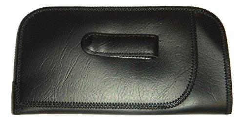 Pocket Clip Eyeglass case with Pouch (black) Vintage Style case - Ete Glasses