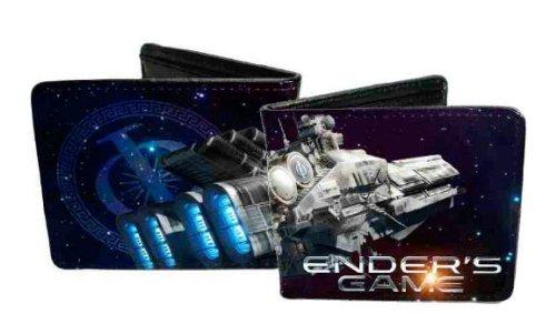 Ender's Game Launch Battleship / International Fleet Logo Leather Bifold Wallet (Fleet Battleship)