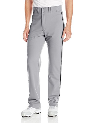 Easton Men's Rival 2 Piped Baseball Pants, Gray/Black, Small