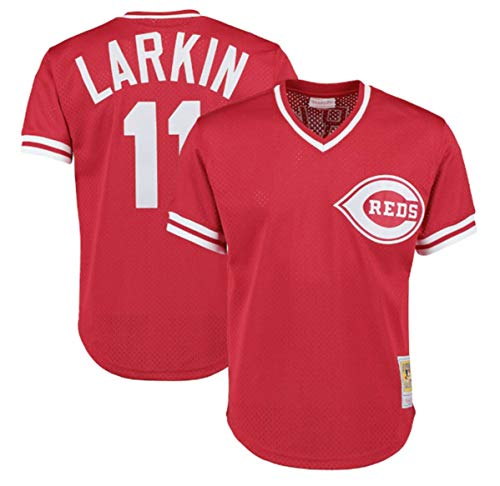 Mitchell & Ness Barry Larkin Red Cincinnati Reds Authentic Mesh Batting Practice Jersey Large (44) (Jersey Mlb Batting Practice Authentic)