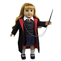 Zita Element Doll Clothes - Hermione Granger 8pcs Outfit Hogwarts-Like Handmade Doll Clothes Shoes for American Girl Doll and Other 18 inch Doll Xmas Gift