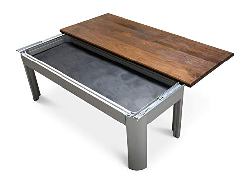 Concealment Coffee Table – Sliding top sits on an anodized aluminium base – Mid-century modern meets industrial style…