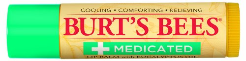 Burt's Bees Medicated Lip Balm with Eucalyptus, 0.15 Ounce (Pack of 3)