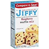 Jiffy, Raspberry Muffin Mix, 7oz Box (Pack of 6)