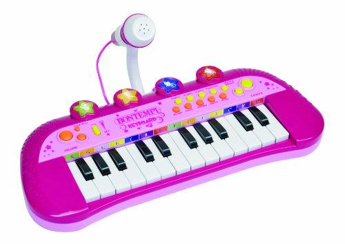 Bontempi - MK 2971 - Instrument de Musique - Clavier Electronique 24 Touches + Micro Rose
