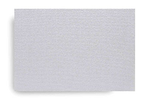 Harman Luxe Shimmer Vinyl Placemat Silver Set of 4 ()