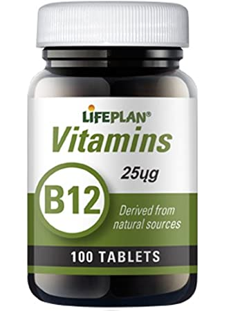 Lifeplan 25mg Vitamin B12 - Pack of 100 Tablets