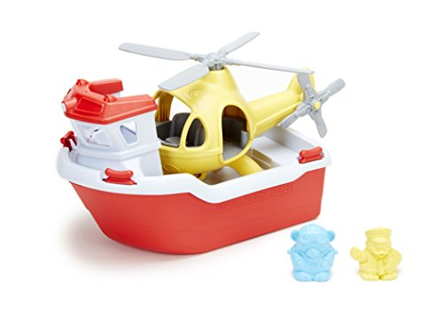 Toy Boat with Helicopter by Green Toys