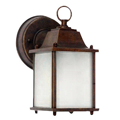 Y Decor EL580BR Modern, Transitional, Traditional Exterior Outdoor Light Fixture Brown Finish with Frosted Glass,