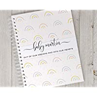 Pregnancy Journal - Hard Cover Keepsake Book - Personalized Memory Book for New Moms - Rainbows