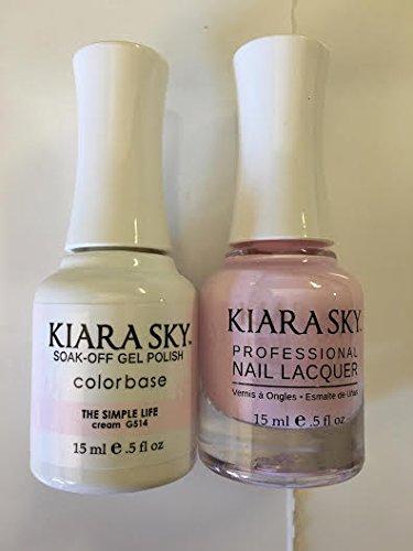 Kiara Sky Matching Gel Polish + Nail Lacquer, The Simple Life, .5 fl. oz