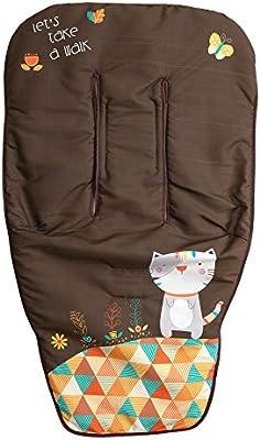 Babyline Kitty color choco Colchoneta ligera para silla de paseo