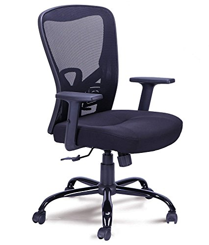 fuhe High Back Mesh Ergonomic Comfortable Swivel Computer Office Desk Chair Task Executive Chair Home Office Conference Room Chair With Adjustable Seat And Armrest ()