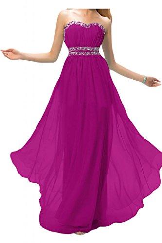 Toscana sposa incantesimo benda Rueckenfrei sera lungo Party Ball damigella Chiffon vestimento Bete vestimento viola 36