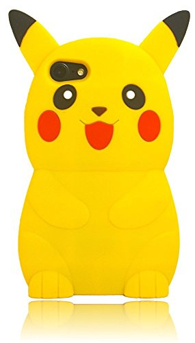 iPhone 6 Case iPhone 6S Silicone Case,Emily Fashion Super Cute 3D Cartoon Character Pokemon Protective Silicone Back Case Cover for iPhone 6/6S 4.7 inch