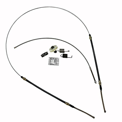 (Eckler's Premier Quality Products 25-111359 - Corvette Parking Brake Cable Kit, Stainless Steel)