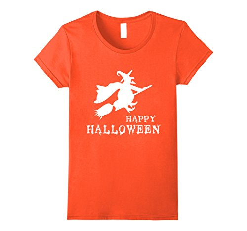 Womens Fat Witch Fly Happy Halloween Funny T Shirt Bad Witch Tee Large (Fat Halloween Witch)