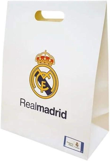Bolsa Regalo Mediana Real Madrid Blanca: Amazon.es: Deportes y aire libre