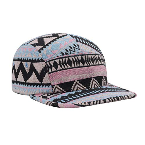 eb9574a77f1b5 Hatphile Pattern Multi Color Stripe 5 Panel Hat Aztec Pink Blue at ...