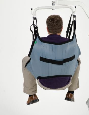 Padded U-Sling Without Head Support, Universal Patient Lift Sling, Size Large, 600lb Capacity by Patient Aid (Image #3)