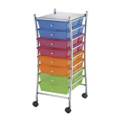 Bulk Buy: Darice DIY Crafts 8 Drawer Scrapbooking Storage Trolley 37.4 inches (3-Pack 2026-102