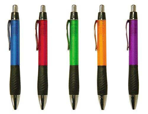 Impex 9317 Heavy Duty Barrel Retractable Pen with Wide Grip (Wholesale Bulk Lot of 50pcs) (Barrel Wide Metallic)