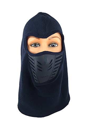 Womens Full Face Fleece Balaclava Mask Neck Warmer For Extreme Winter Weather Ski Snowboard (Dark Blue)