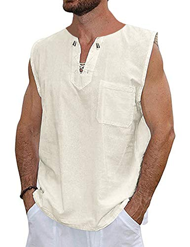 (COOFANDY Mens Fashion T Shirt Cotton Tee Hippie Shirts Short Sleeve Beach Yoga Top)