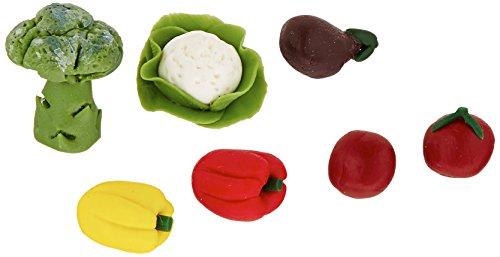 Darice, Miniature 7 Piece Assorted Vegetables -