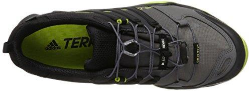 adidas Terrex Swift R GTX, Scarpe Sportive Outdoor Uomo Nero (Core Black/Core Black/Semi Solar Yellow)