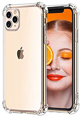 Comsoon for iPhone 11 Pro Max Case, [Crystal Clear] Anti-Scratch Shock Absorption Phone Case Cover with 4 Corners Protection, Soft TPU Slim Case for Apple iPhone 11 Pro Max 6.5 inch (2019)