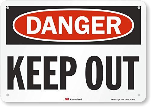 SmartSign 3M Engineer Grade Reflective OSHA Safety Sign, Legend