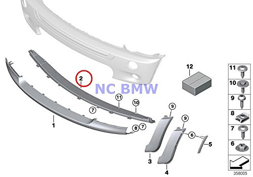 BMW Mini Genuine Bumper Cover Trim Panel - Black Cooper S Cooper S