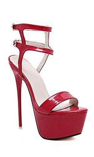 Kengät Korkokenkiä Kitzen Tuomioistuin Luistaa 38 Hihna Klassinen Pumppujen Naisten Cross Teräväkärkiset Punainen Stiletto Sandaalit CwAxwXqP