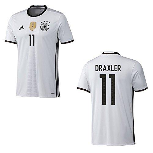 adidas DFB DEUTSCHLAND Trikot Home Herren EURO 2016 - DRAXLER 11, Größe:L