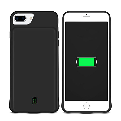 Coslight 7000mAh Capacity Support Headphones Ultra Slim Extended Battery Rechargeable Protective Portable Charger 5.5'' ,For iPhone 8 Plus / 7 Plus / 6s Plus / 6 Plus Battery Case, Black by Coslight