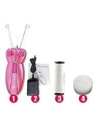 ECVISION Electric Shaver Ladies Epilator Facial Hair Epilator Facial Hair Remover Pull Faces Delicate Beauty Epilator Pull Face Device Depilation (Pink)