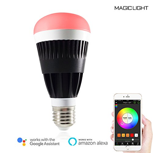 MagicLight Pro WiFi LED Light Bulb - 80w Equivalent Sunrise Wake Up Lights - Dimmable Multicolored Color Changing Disco Ball Lamp - Compatible with Alexa & Google Home Assistant
